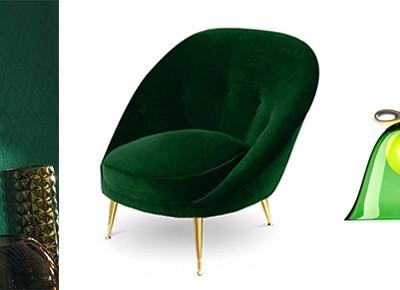 Emerald szlachetny kolor we wnętrzach