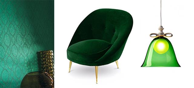 Emerald szlachetny kolor we wnętrzach Emerald szlachetny kolor we wnetrzach