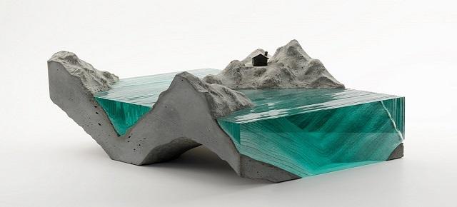 Ben Young, szklane rzeźby inspirowane falami oceanu 1Ben Young szklane rzezby inspirowane falami oceanu1