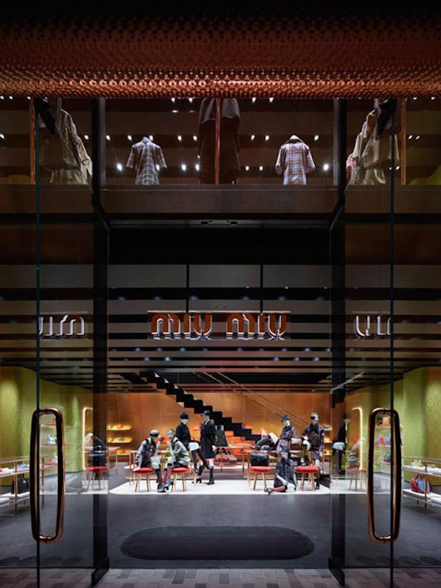Nowy butik Miu Miu architektów Herzog & de Meuron5  Nowy butik Miu Miu architektów Herzog & de Meuron Nowy butik Miu Miu architekt  w Herzog de Meuron5