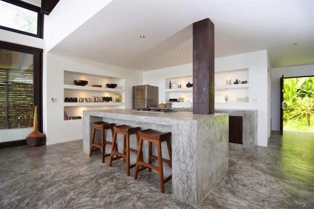 beton  10 pomysłów na wykończenie ściany nad blatem kuchennym! beton