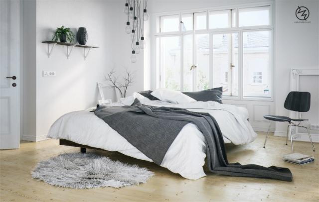 dom-wnetrze-sypialnie-w-stylu-skandynawskim-dekoracje-2  10 pięknych sypialni w stylu skandynawskim dom wnetrze sypialnie w stylu skandynawskim dekoracje 2