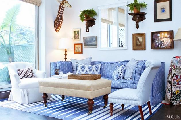 niebieski salon  30 niezwykłych projektów niebieskich salonów 25 PROJEKT  W NIEBIESKI SALON 24