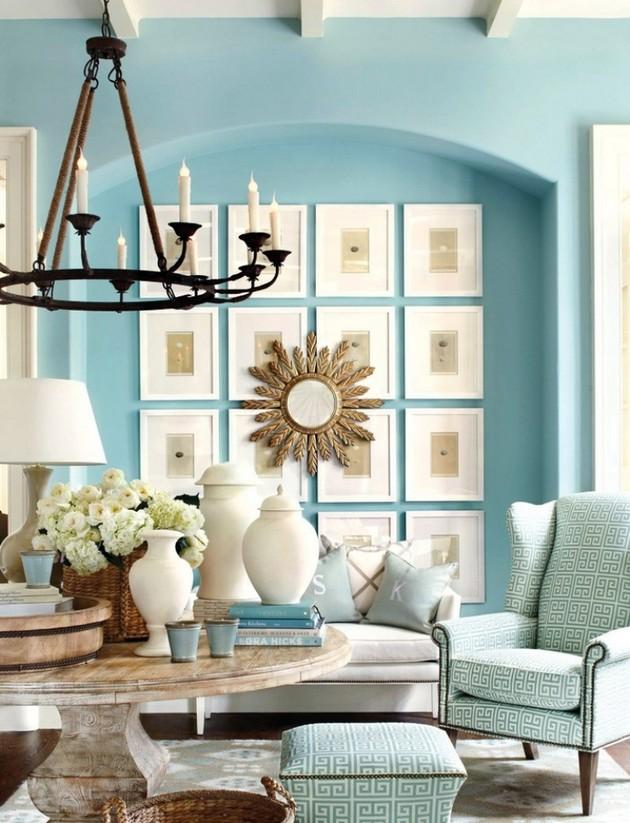 niebieski salon  30 niezwykłych projektów niebieskich salonów 25 PROJEKT  W NIEBIESKI SALON 2