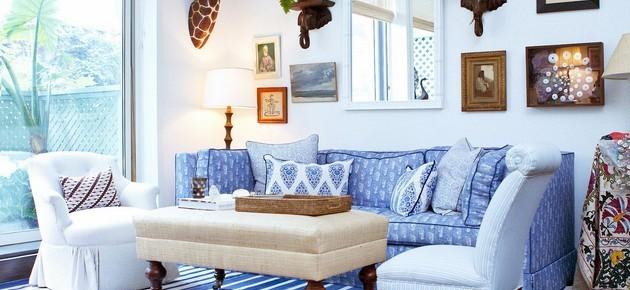 30 niezwykłych projektów niebieskich salonów